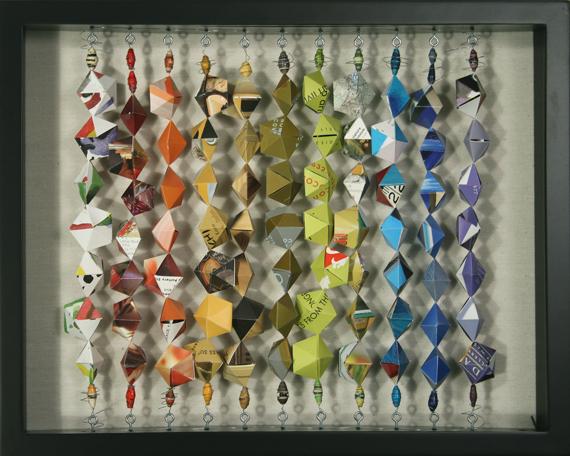 barbara lugge art 3d collage spectrum. Black Bedroom Furniture Sets. Home Design Ideas